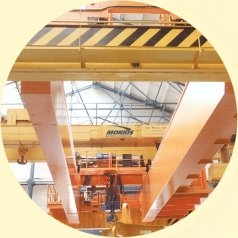 Morris overhead crane and wire rope hoist